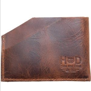 Hide & Drink Leather Card Holder NWT